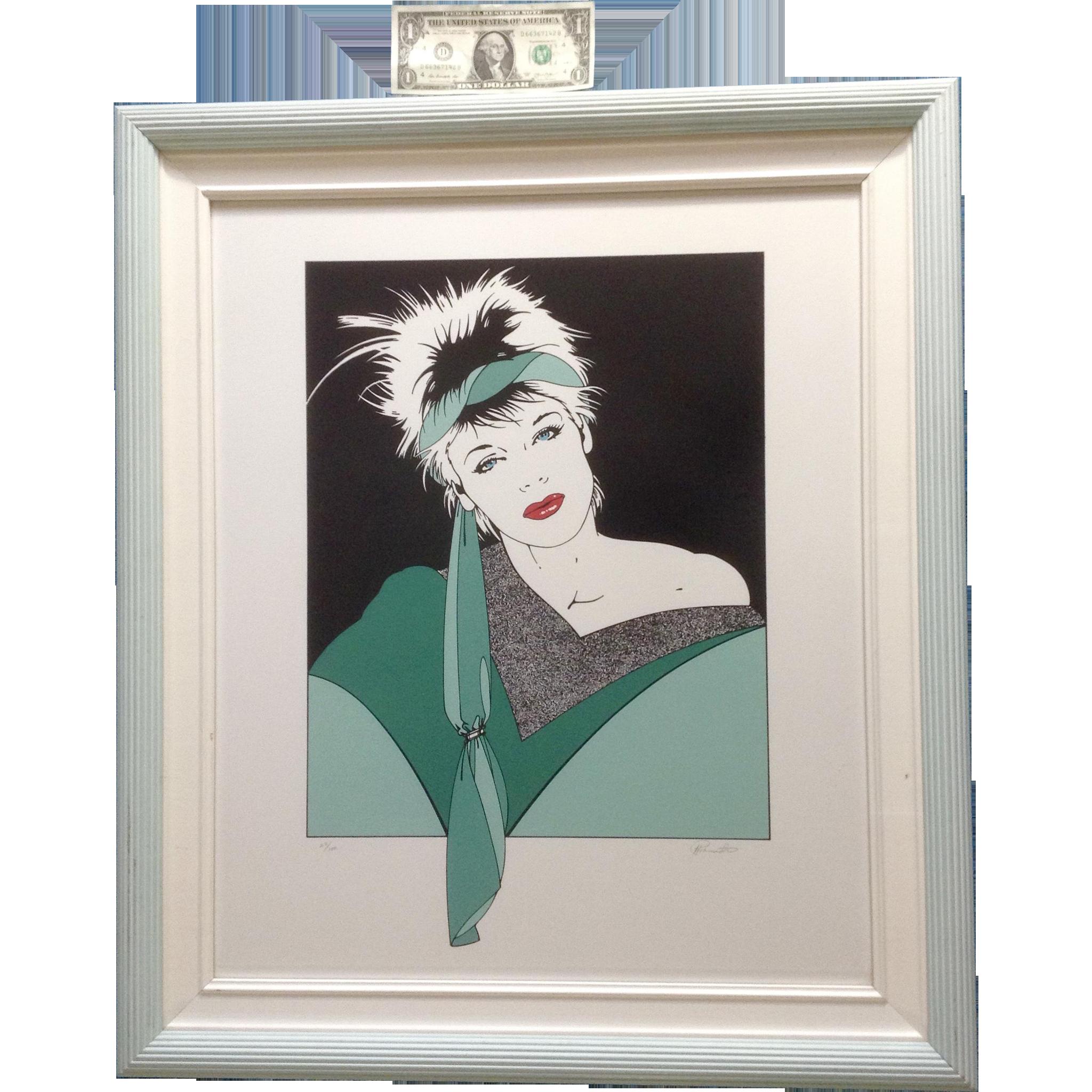 1980's Pop Art Woman Silkscreen Serigraph Print Signed by