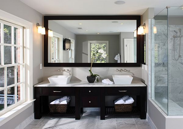 Inexpensive Bathroom Makeover Ideas Light colors Bowls and Master