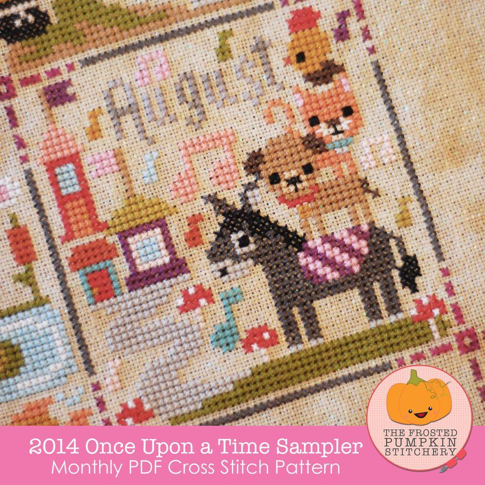 2014 Once Upon A Time Sampler PDF Cross Stitch Pattern / The Frosted Pumpkin Stitchery