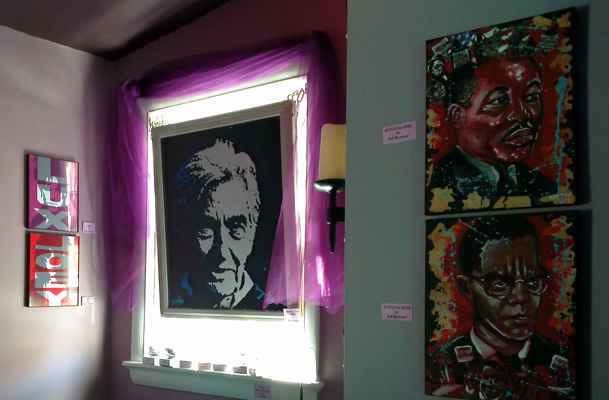 Opening Look Sat 4 April 2015. Art by John Detrich, Kevin and Jeff Bertrand for the Influential People Art Show.
