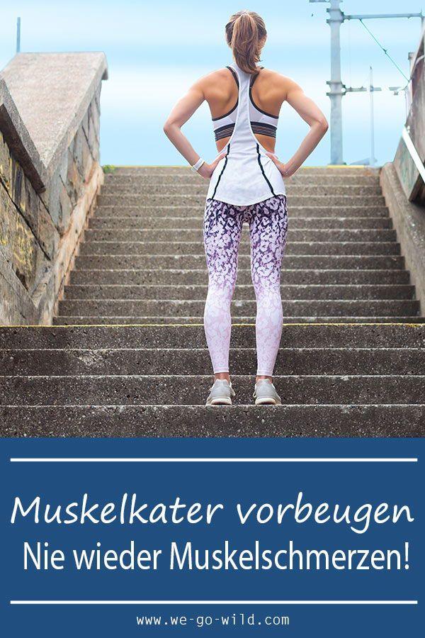 Muskelkater vorbeugen ist viel besser als am nächsten Tag Muskelschmerzen zu haben. Aber was hilft a...