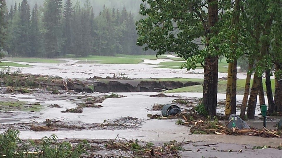 After the floods in Alberta, Canada Photo taken 07292013