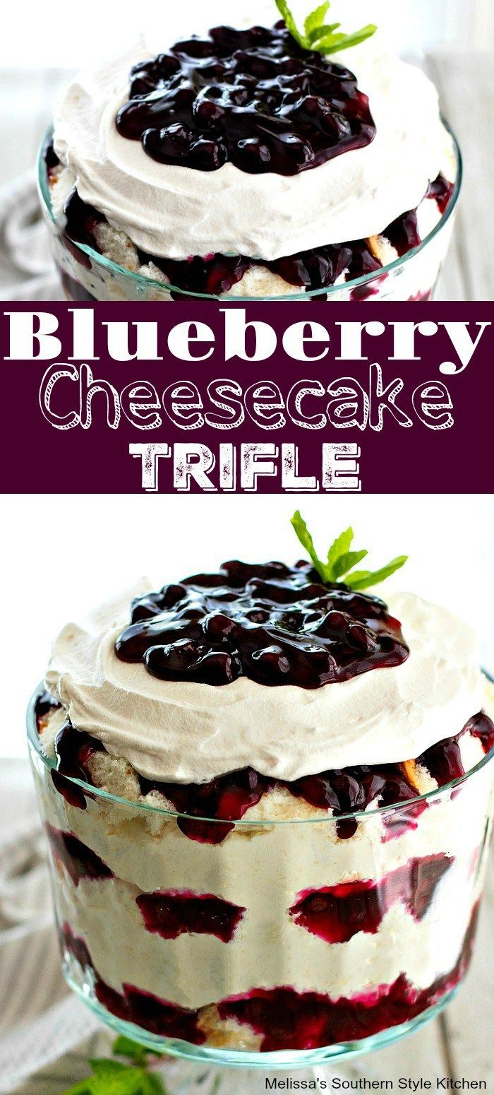 Easy Blueberry Cheesecake Trifle - melissassouthernstylekitchen.com