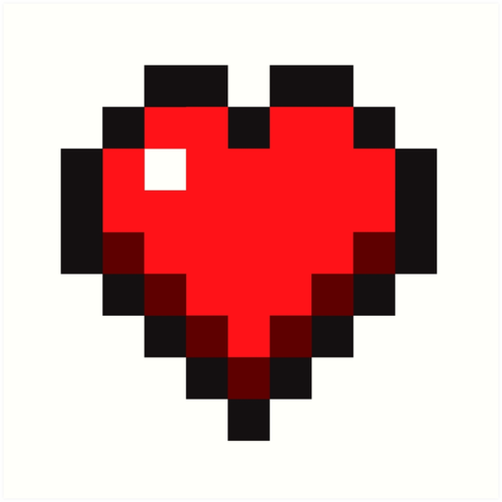 Pin By Melody Porter On Ray S Shelf In 2021 Pixel Art Minecraft Heart Minecraft Valentines