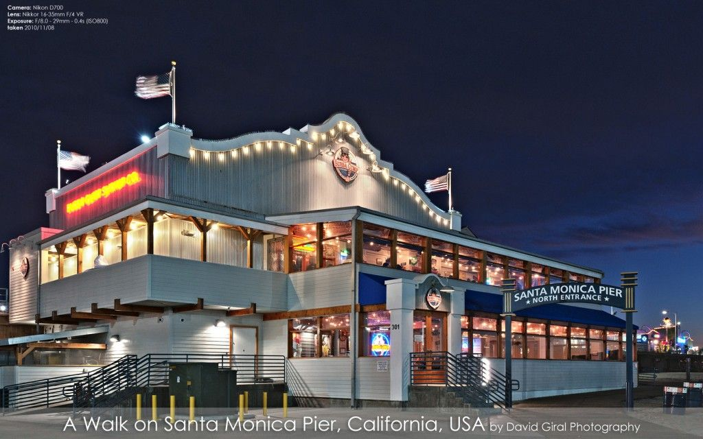 Restaurant Santa Monica Pier California Usa