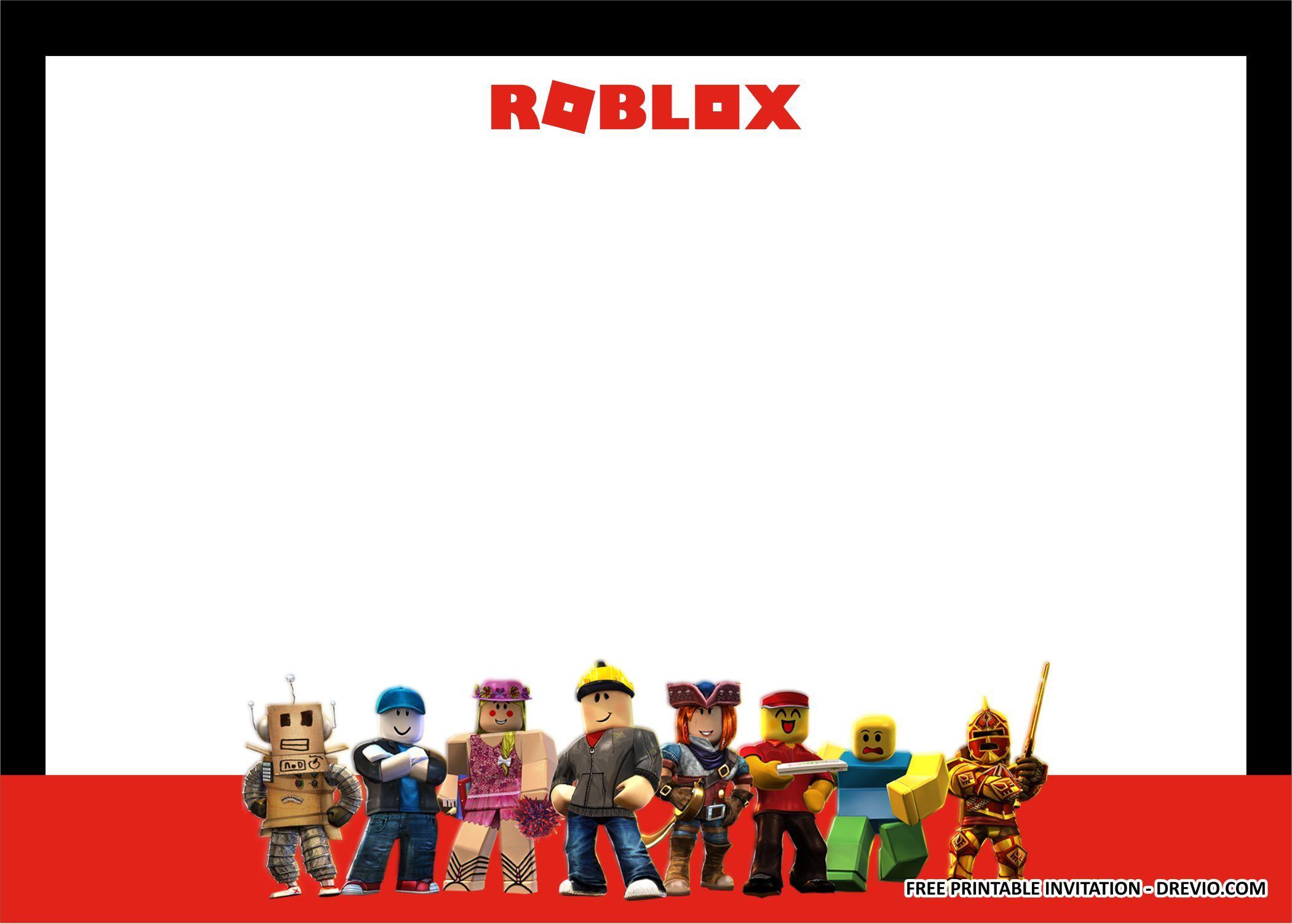 FREE PRINTABLE) ROBLOX Birthday Party Kits Templates Birthday