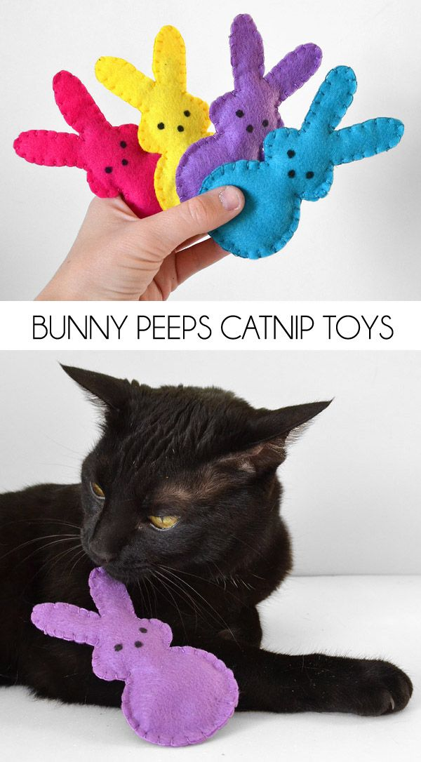 Easter Bunny Peeps Catnip Toys Easter Pets Diy Pet Toys Homemade Cat Toys