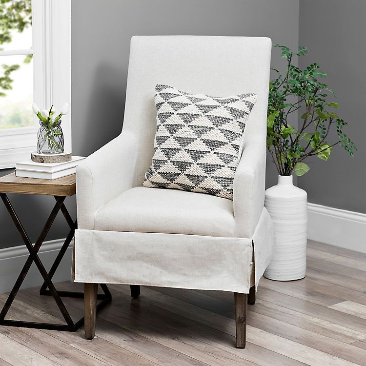 Product Details Ivory Mini Skirted Upholstered Accent Chair Cosy