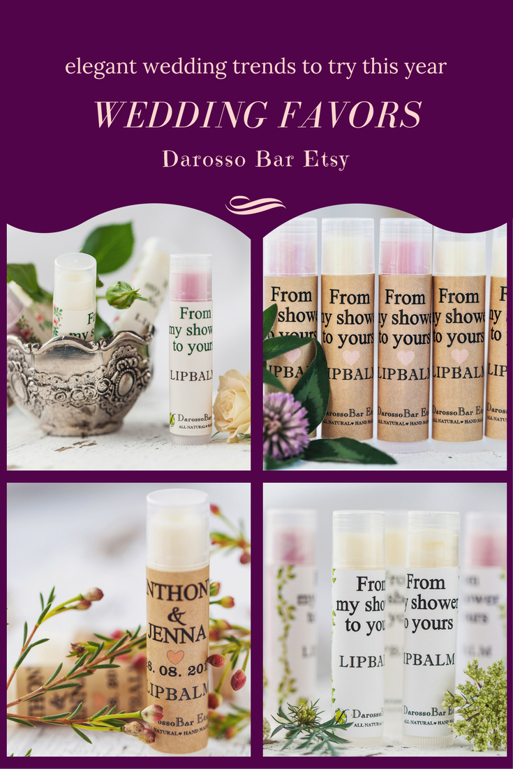 Lip Balm Wedding Favor Custom Chapstickbridal Shower Favors