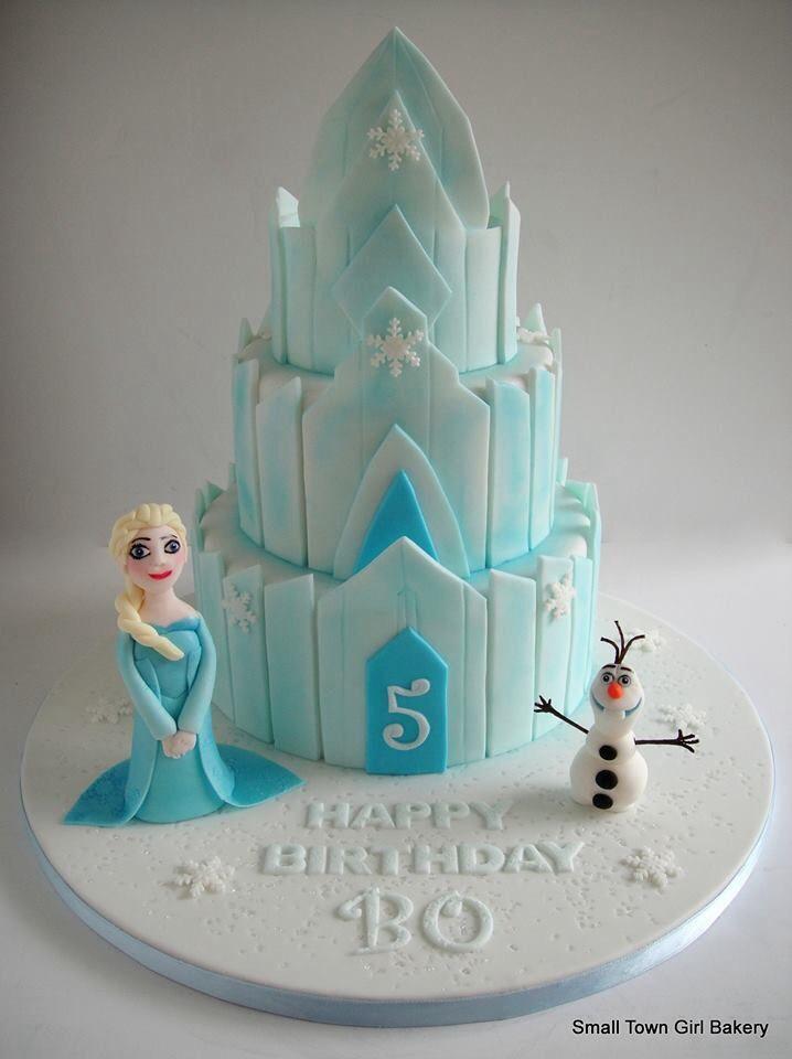 Disney Frozen Cake #frozen #cake #smalltowngirlbakery