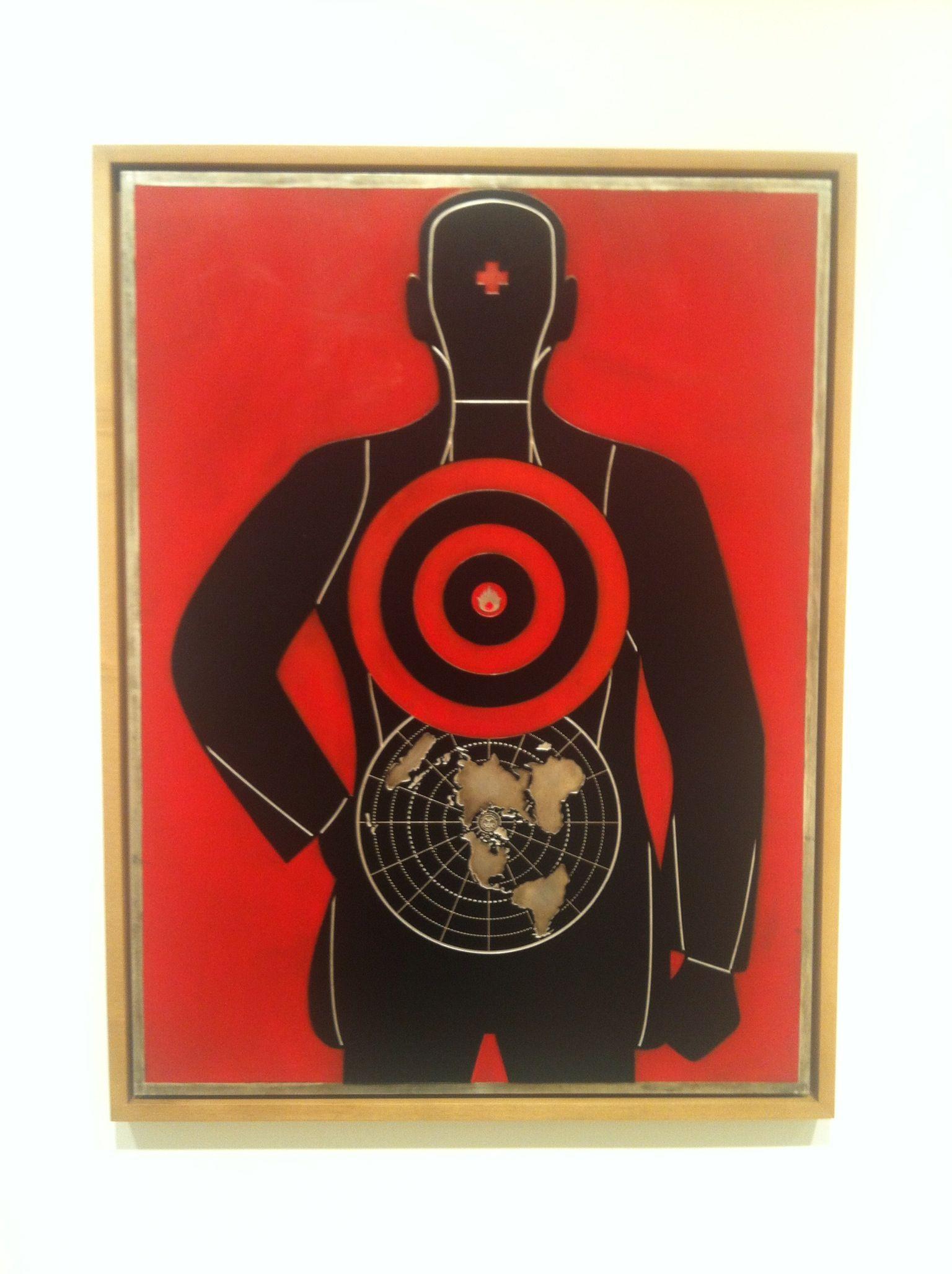 Shepard Fairey - Global Target - Screen Print on Metal (Pace Prints - NYC)