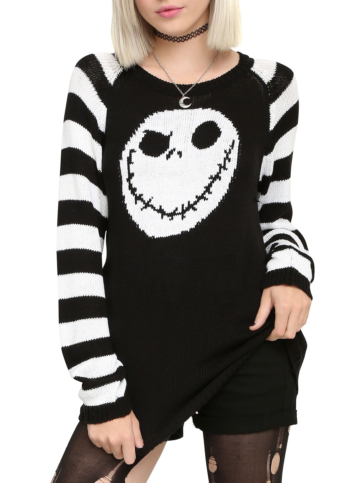 The Nightmare Before Christmas Jack Head Knit Sweater :: I lied on ...