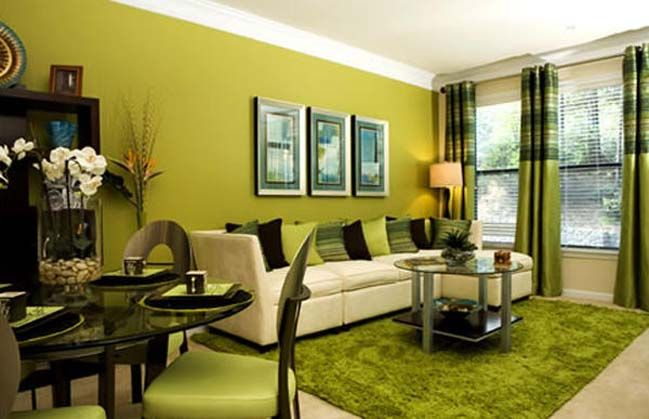 Deciding Colors and Styles for Cozy Family Room Ideas. Green Living ...