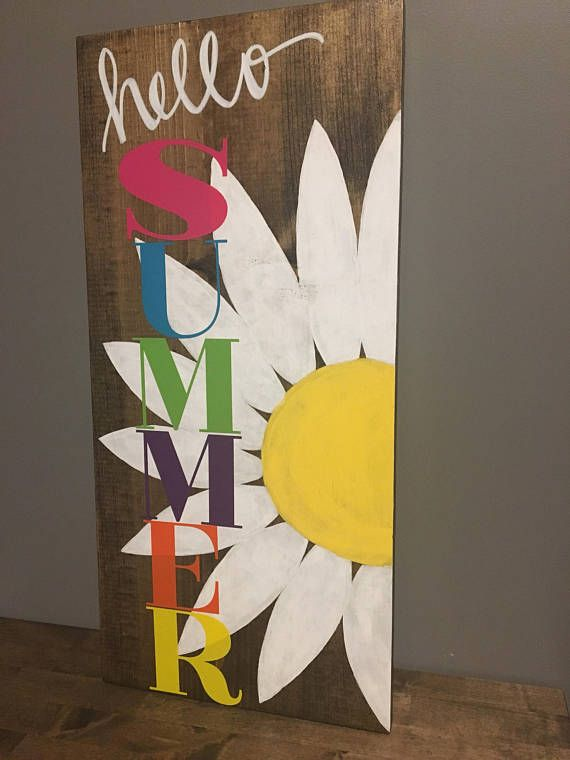 Hello Summer Wood Sign Wood Signs Spring Crafts