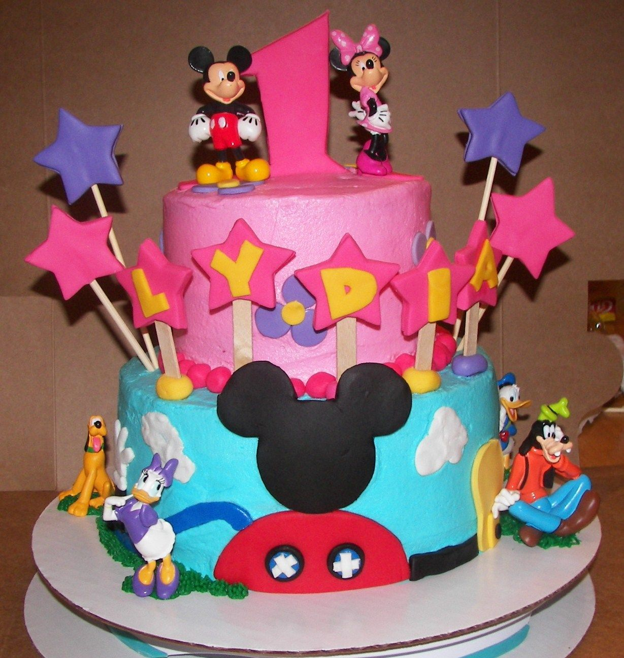 Peachy Mickey Mouse Clubhouse Mickey Mouse Clubhouse Birthday Cake Personalised Birthday Cards Veneteletsinfo