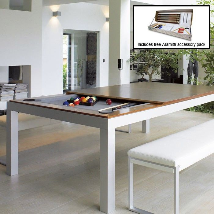 75 Ft Aramith Fusion Pool Diner In Black  Tennis Tops Diners Gorgeous Dining Room Pool Table Decorating Inspiration