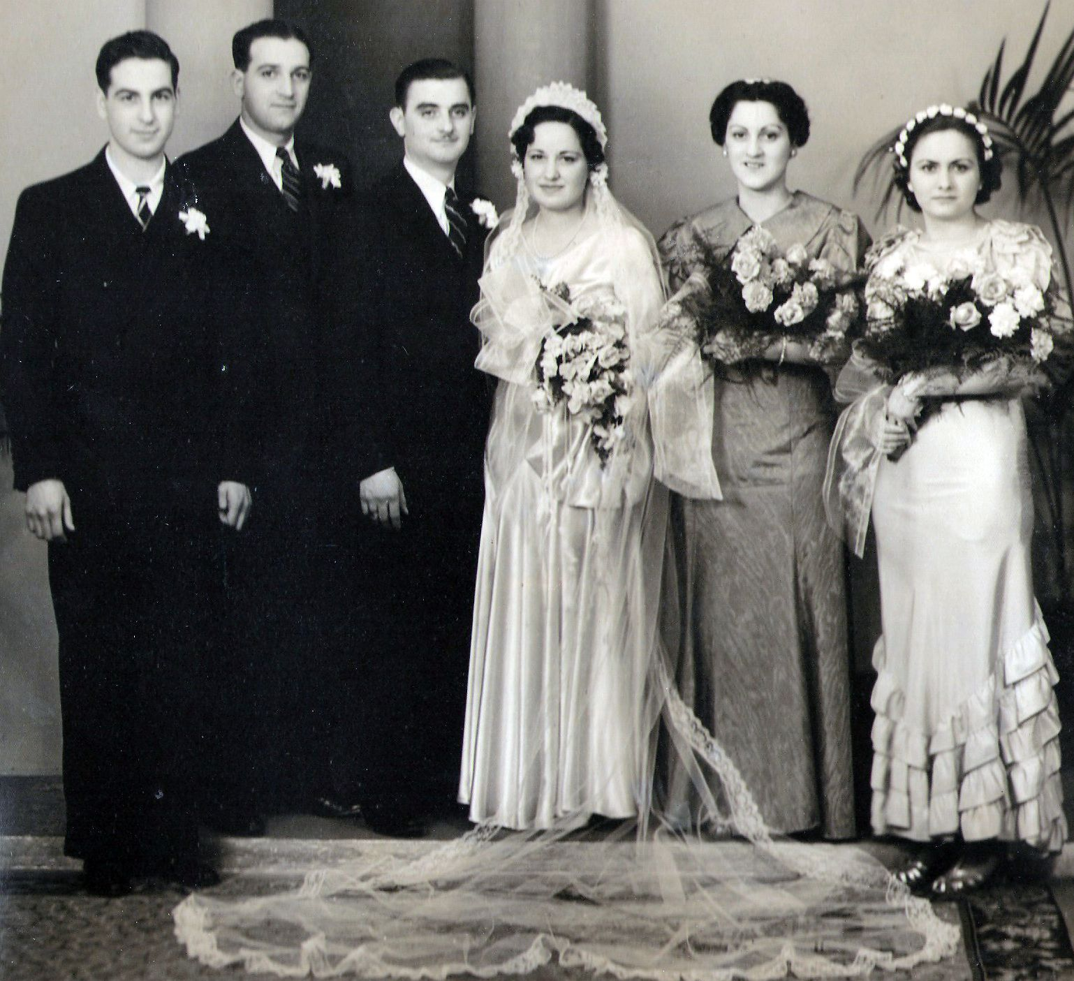 1930s Vintage wedding photograph. From my collection of ...