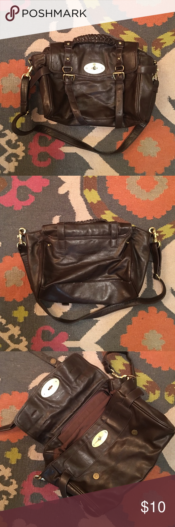 eb6771b9c65 MULBERRY Alexa lookalike Dark Brown Bag Purse MULBERRY Alexa knockoff dark  brown purse that I got at the thrift store. Used but good condition.