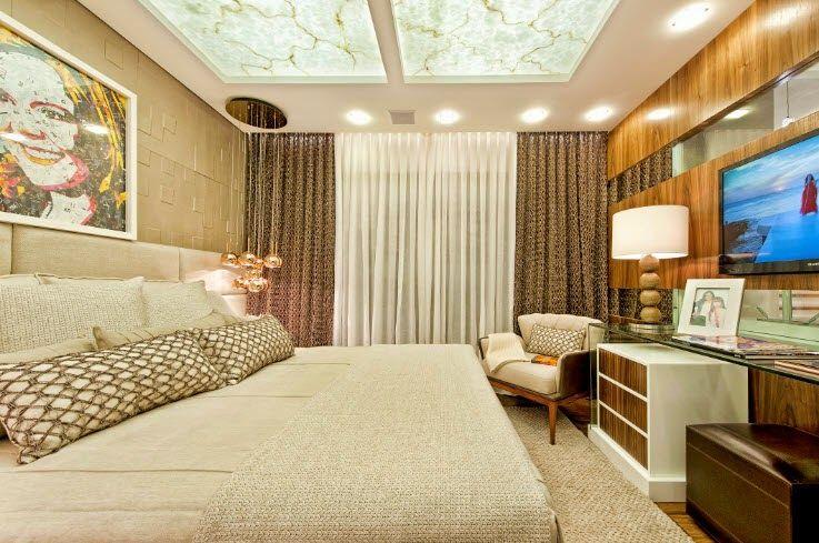 Suítes master – veja modelos maravilhosos de quartos e banheiros para casais! -> Banheiros Suites Modernos