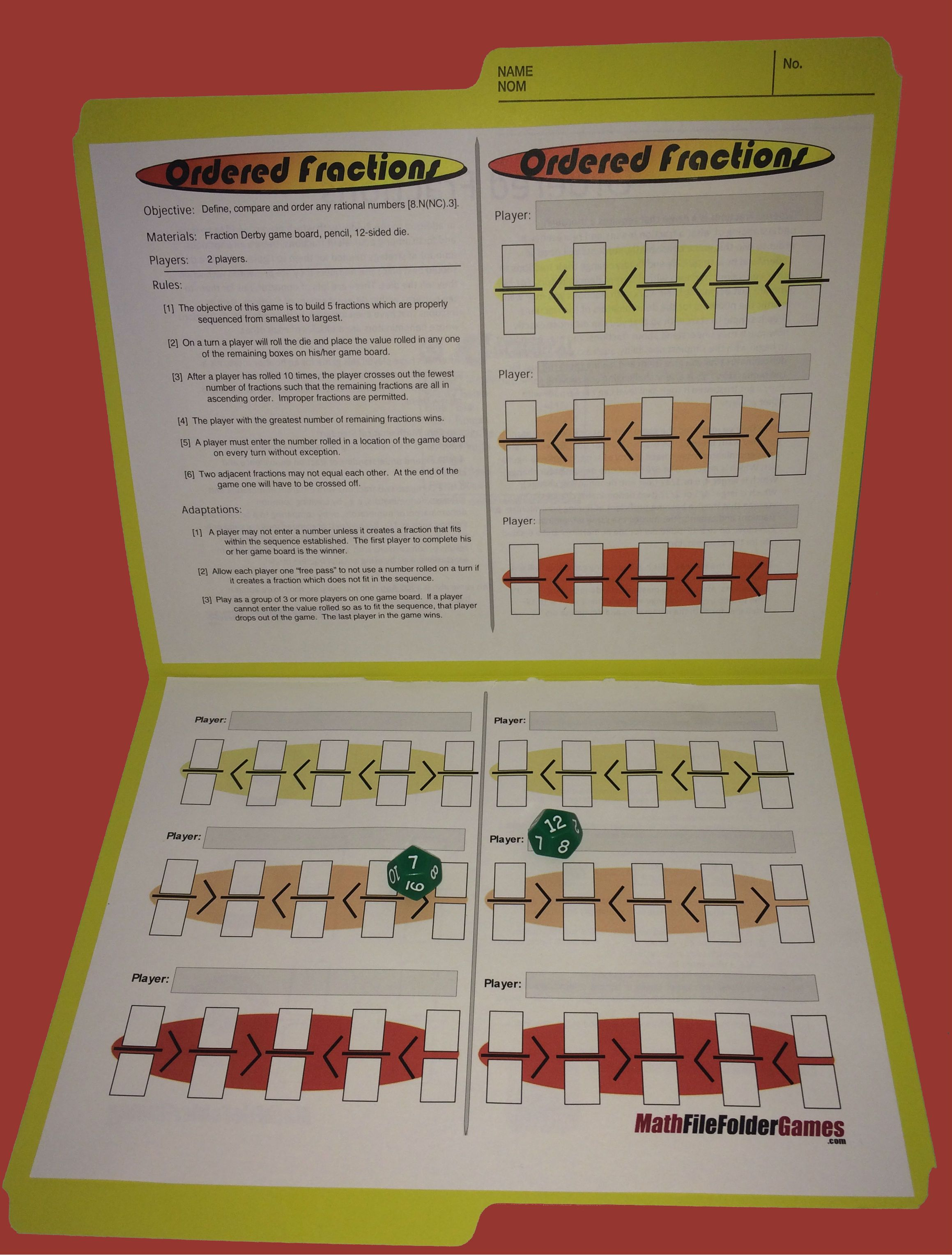 Printable Math Games | Pinterest | Printable math games, Middle ...