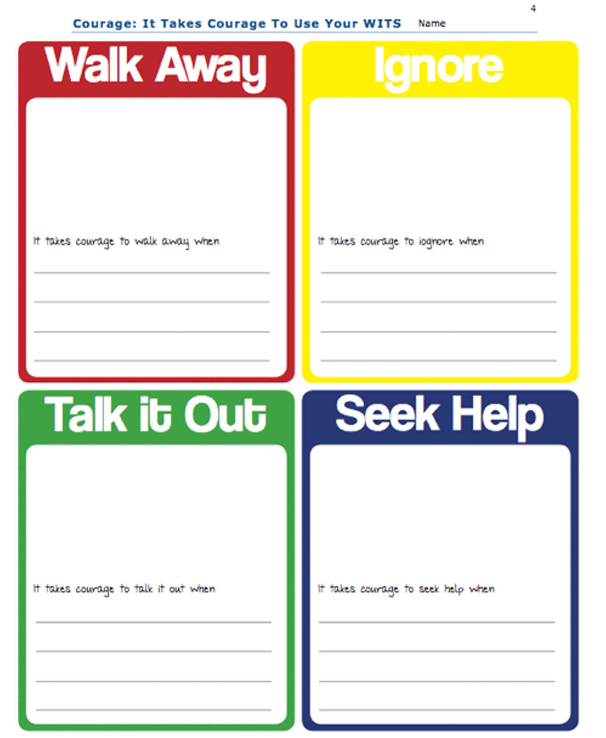 conflict resolution worksheets pdf