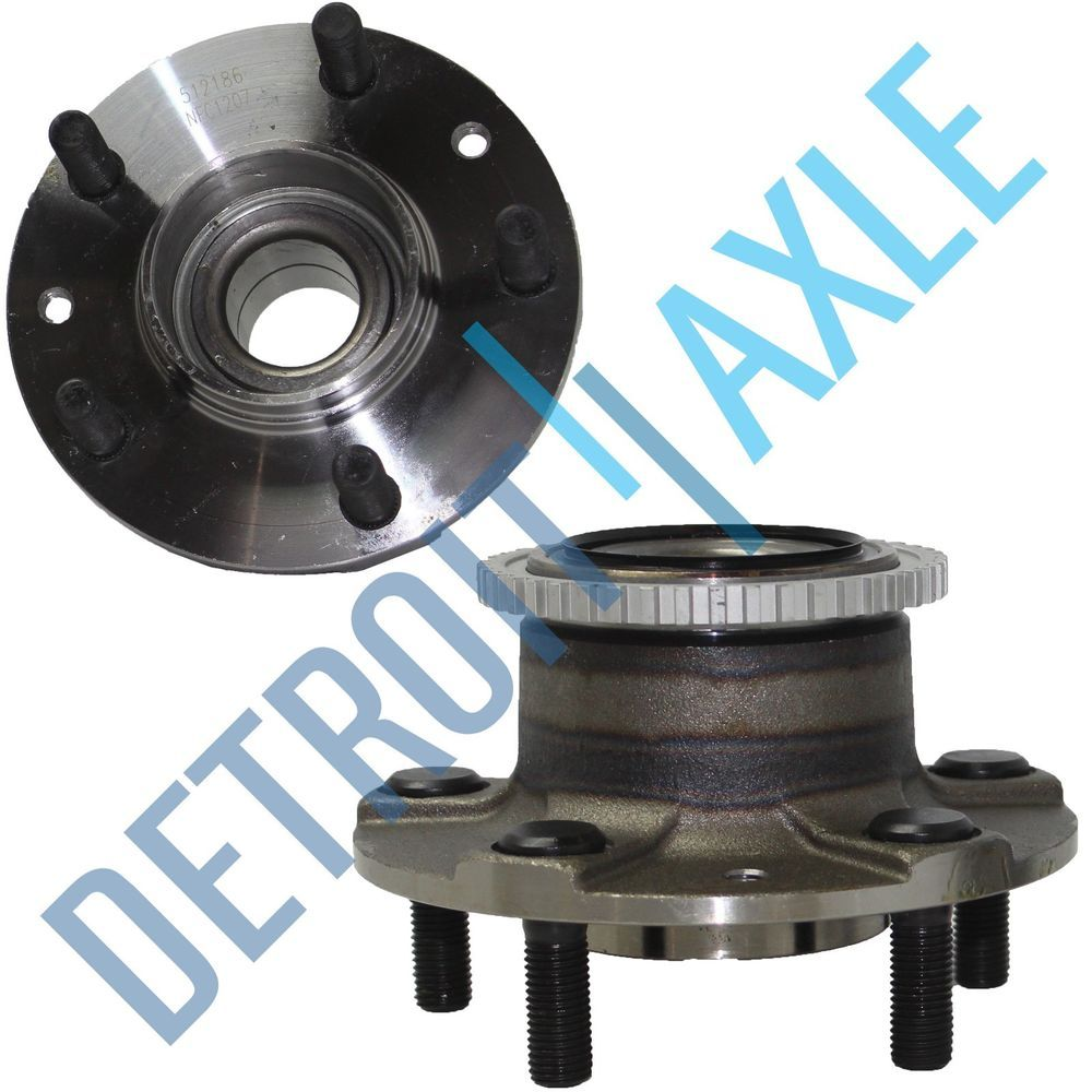 Set (2) New REAR Complete Wheel Hub and Bearing Assembly for Mazda