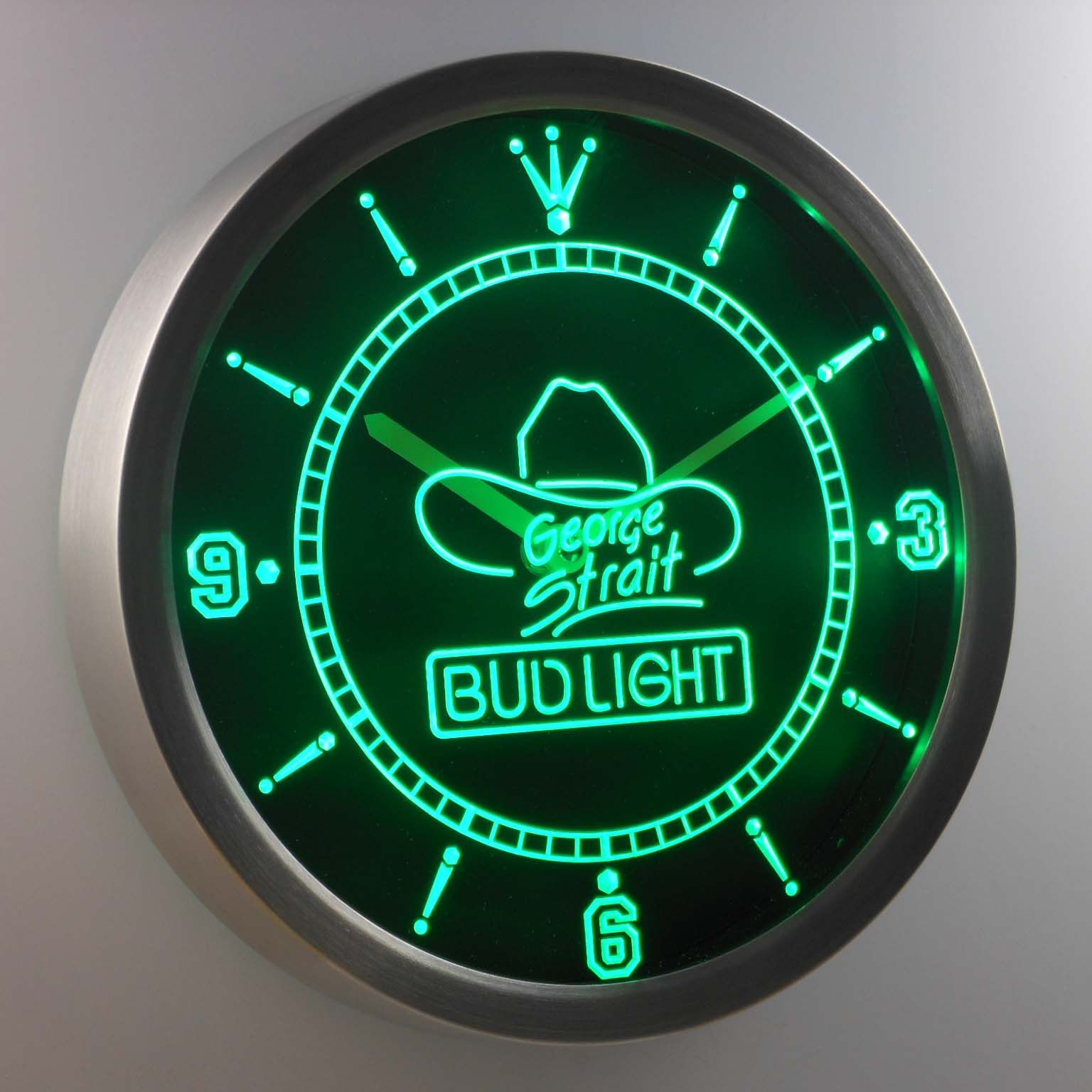 Bud Light Strait LED Neon Wall Clock Led wall