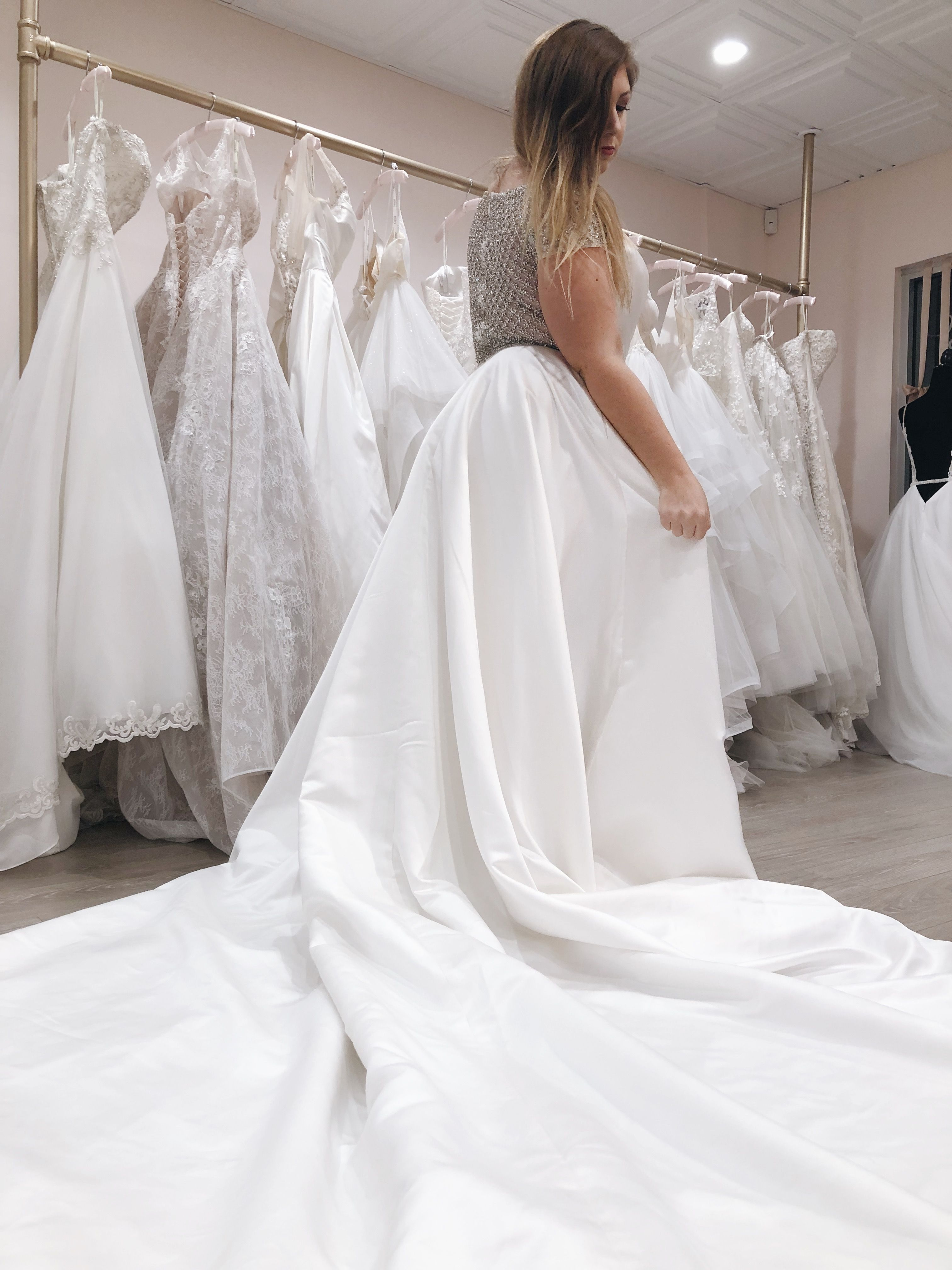 Breathtaking Plus Size Wedding Gown With Dramatic Train And Sophisticated Design Located In Fernandi Plus Size Wedding Gowns Bridal Boutique Plus Size Wedding [ 4032 x 3024 Pixel ]