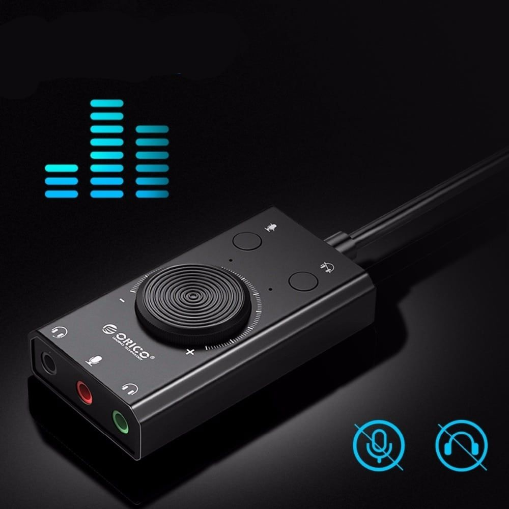 Portable Usb External Sound Card Sound Card Usb Microphone