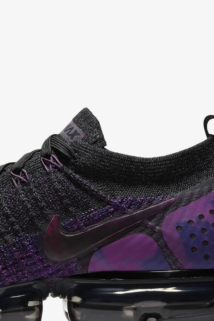 sports shoes 960ab 2d655 Nike Air Vapormax Flyknit 2 'Black & Vivid Purple & Night ...