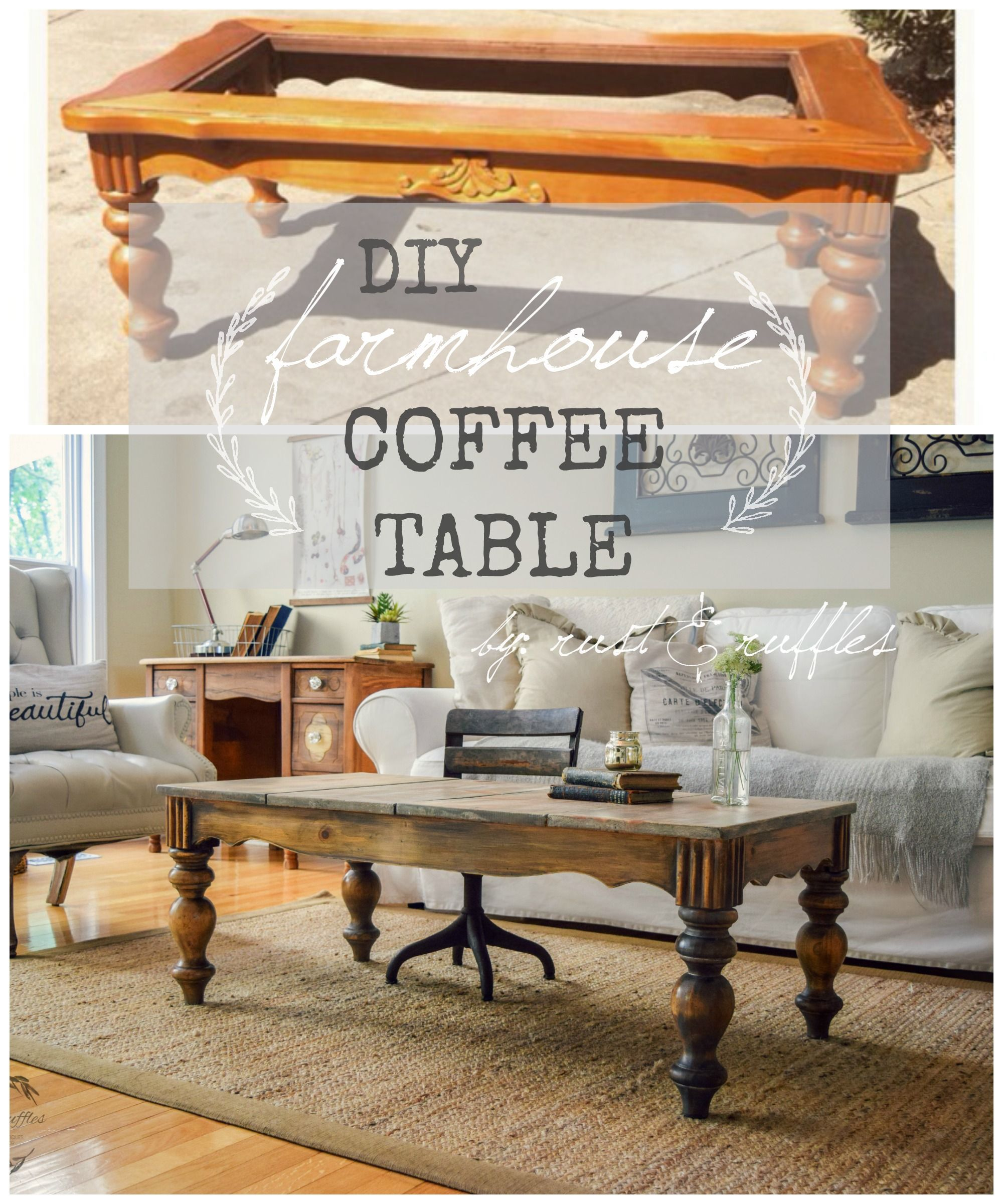 Turn An Outdated Oak Coffee Table Into A One Of