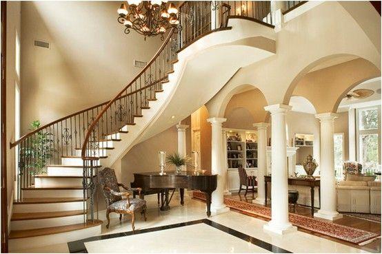 Classy Staircase Foyer Design Staircase Design House Design