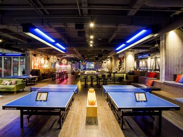 Spin Ping Pong Bar Ping Pong Bar Ping Pong San Francisco Cafe
