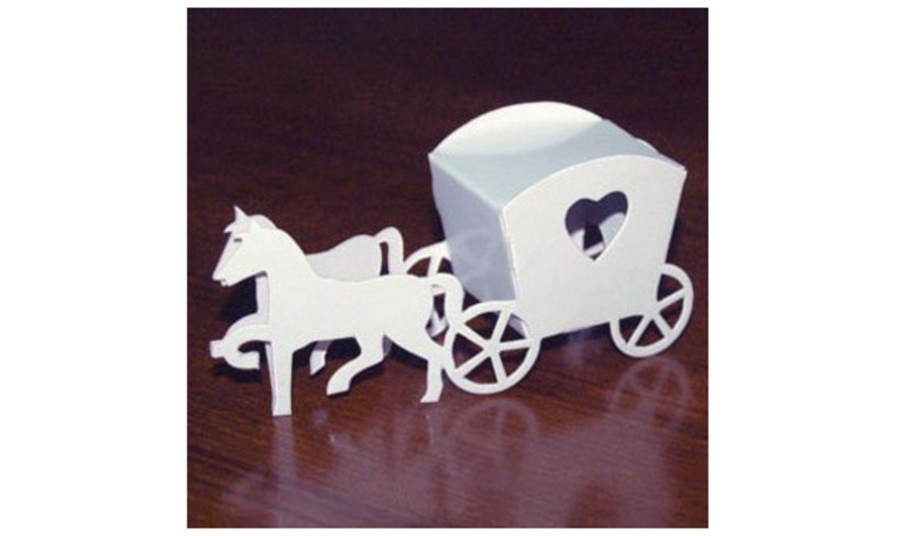 Boite à dragées carrosse blanc: Mariage thème princesse | boite à ...