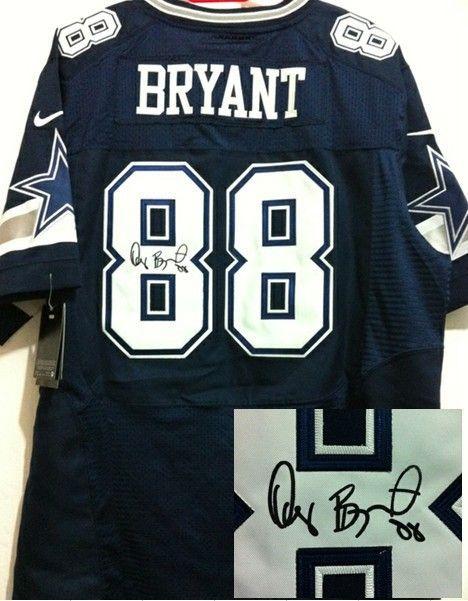 02394ade8be ... france nike nfl dallas cowboys 88 dez bryant navy blue team color men  stitched elite signed