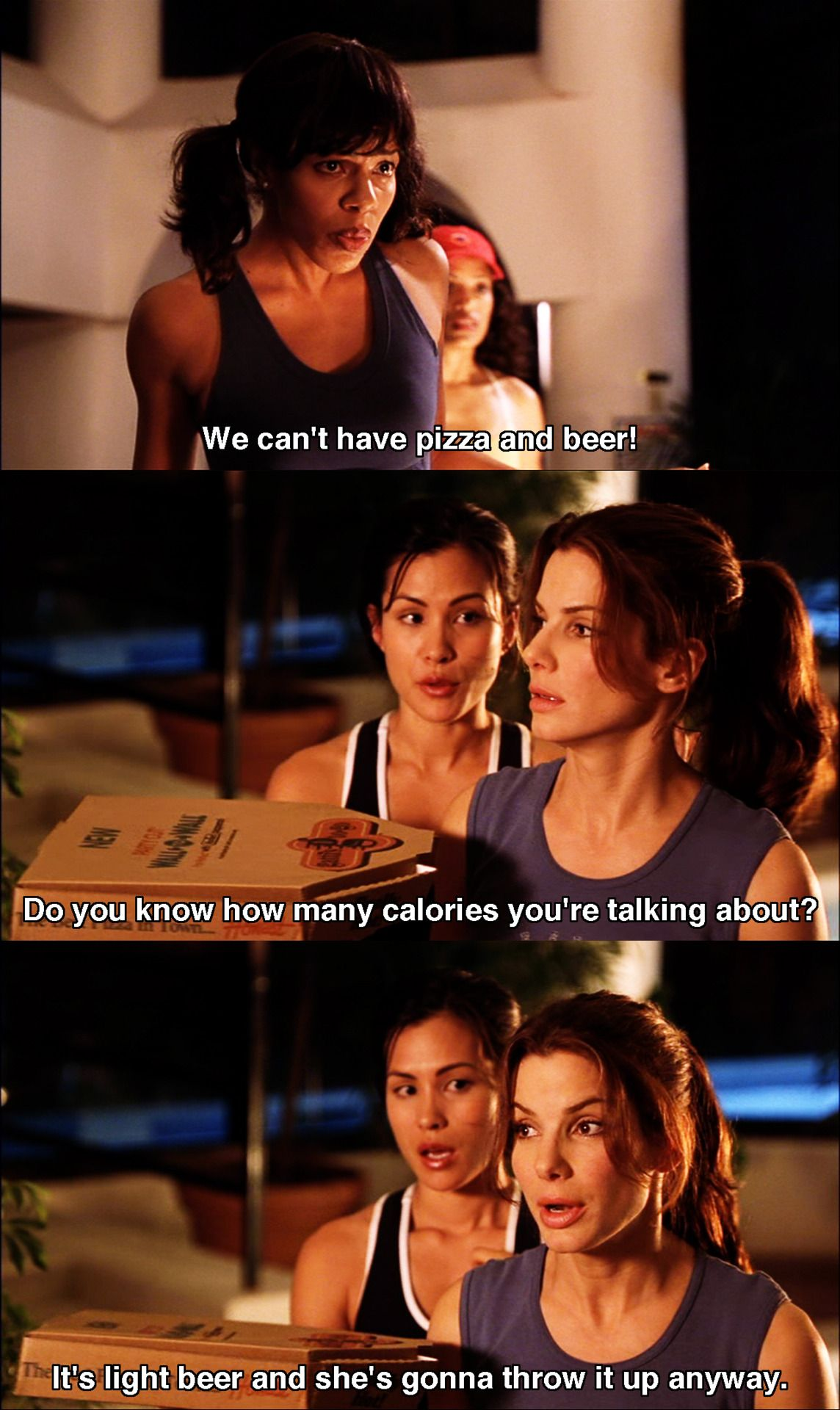 we can t have pizza miss congeniality 2000 movie quotes