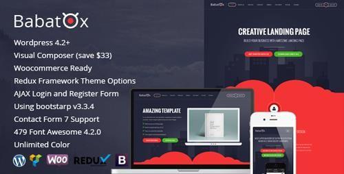 Download ThemeForest Babatox v1.3 Responsive Landing Page WordPress ...
