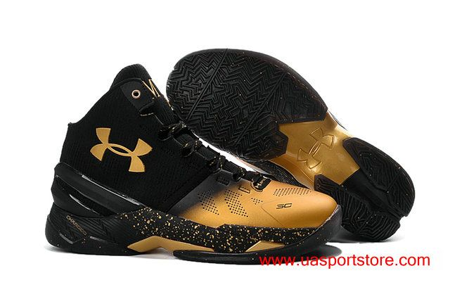 fedd2ee2ed3 Under Armour UA Curry 2 Stephen Curry MVP Black Gold Dots Best Men s  Basketball Shoes