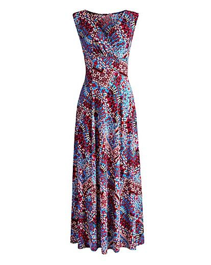 JOANNA HOPE Print Jersey Maxi Dress For Ladies