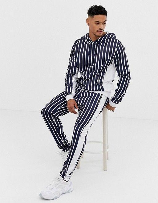 1d43d19f Liquor N Poker sweatpants in blue stripe in 2019 | asos men