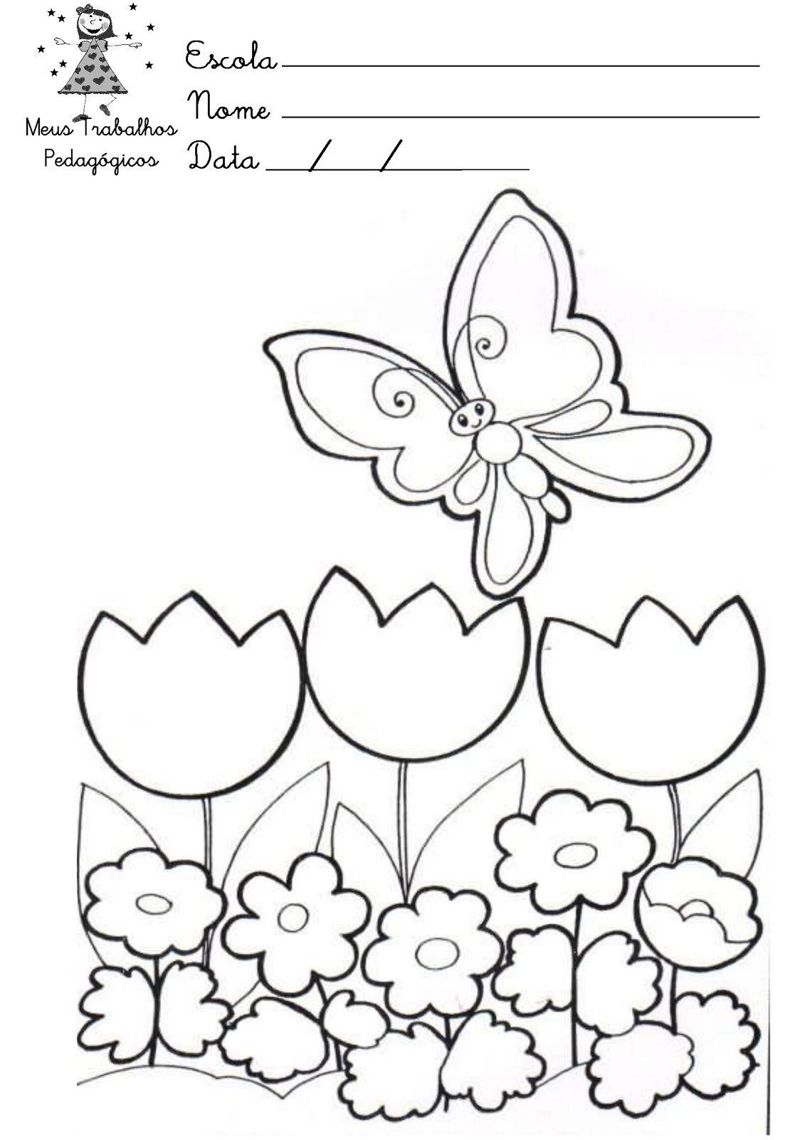 Desenhos Desenho Para Pintar Da Primavera Com Imagens Flores