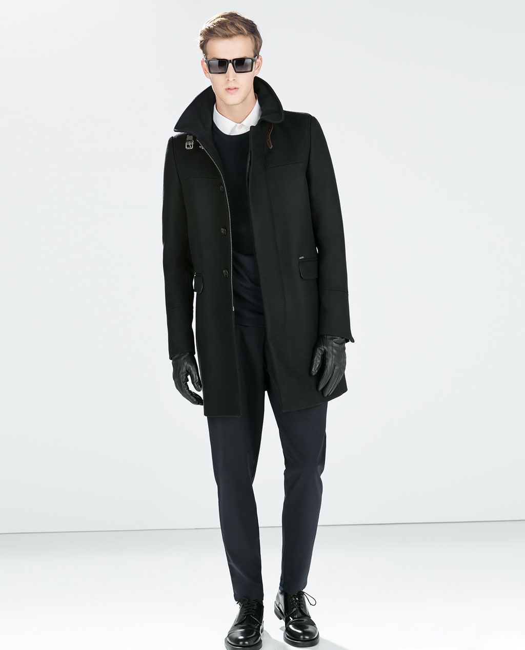 Image 1 Of Funnel Coat From Zara Trench Coat Men Coat Trench Coat