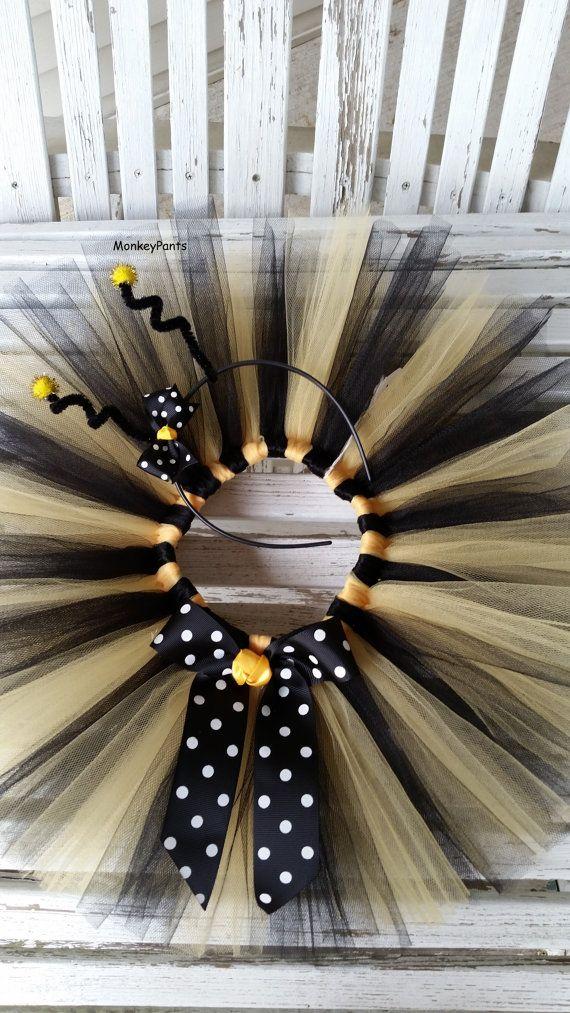 Bumble Bee Costume - Baby Girl Halloween Tutu and Headband - Girl Bee Party Tutu - Black and Yellow Tutu - Girl Bee Costume & Bumble Bee Costume - Baby Girl Halloween Tutu and Headband - Girl ...