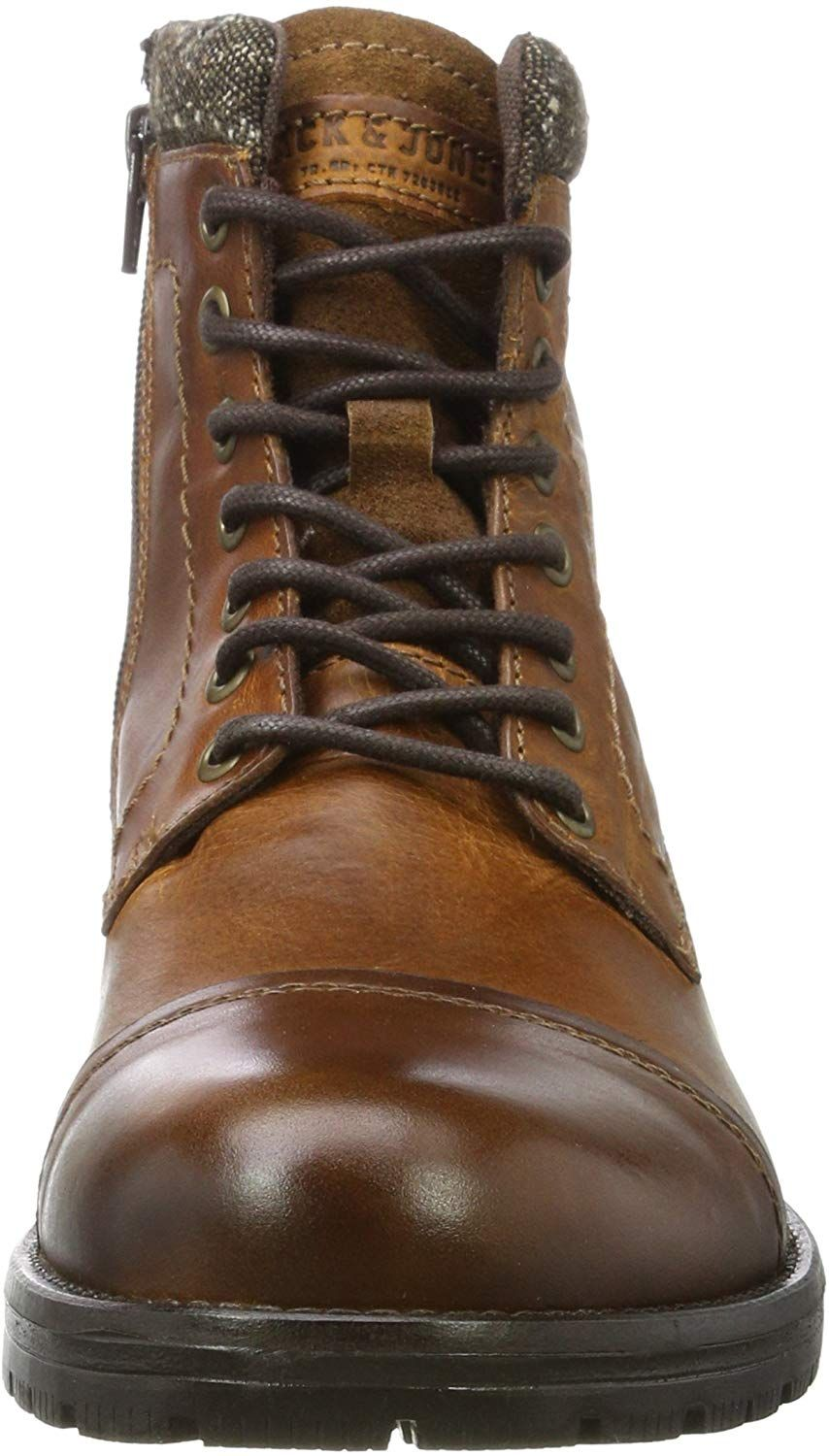 the best attitude b7358 54933 Jack  Jones Jfwmarly Leather, Botas Clasicas para Hombre, Marrón (Cognac),