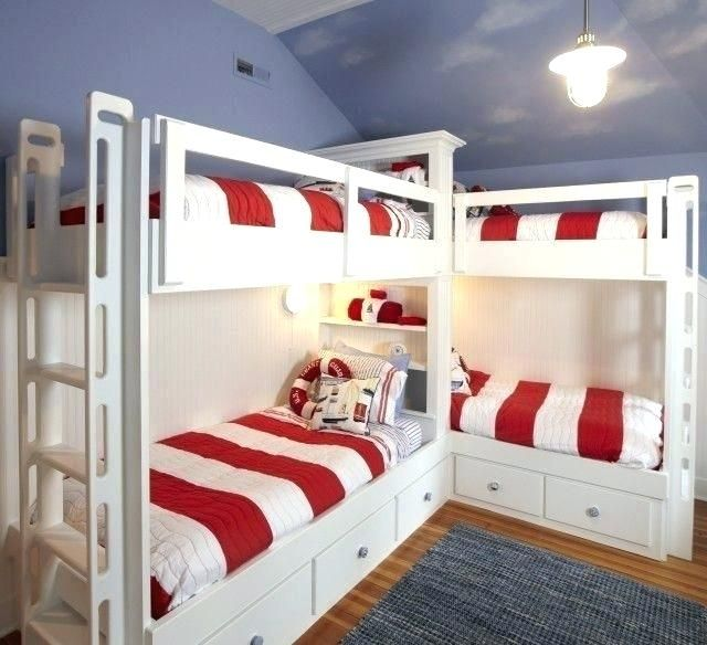 Corner Bunk Bed Four Bunk Beds Popular Of Corner Bed Plans And Top