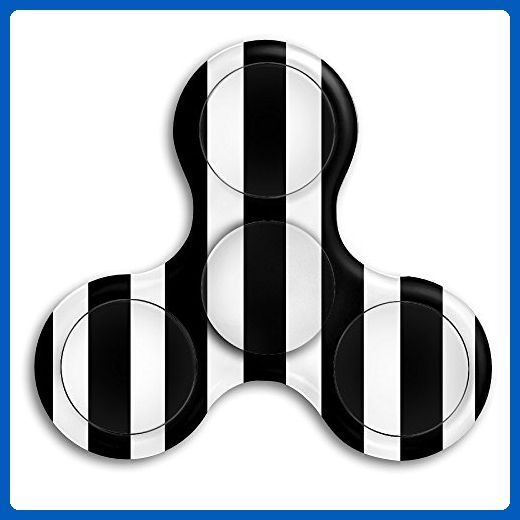 Tri-Spinner Fidget Spinner Focus Toy Stress Reducer Black And White Stripe Hand Finger Fidget Toys For ADHD, Anxiety, Autism - Fidget spinner (*Amazon Partner-Link)