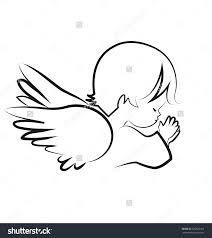 Resultado De Imagen De Angel Praying Vector Tatuagem De Bebe