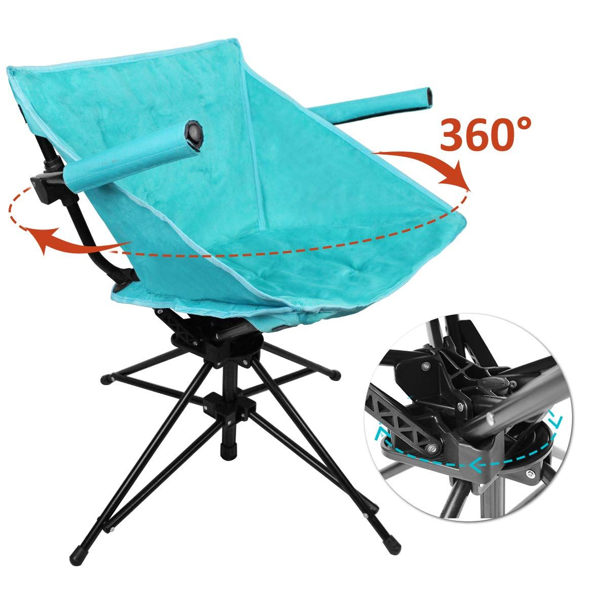 Zenree Folding Camping Hunting Chairs Outdoor, Portable