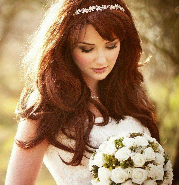 Coiffure Mariage Cheveux Longs Et Coiffure Mariage Mi Long En 60 Idees Coiffure Mariage Cheveux Long Coiffure Mariage Mi Long Coiffure Mariage