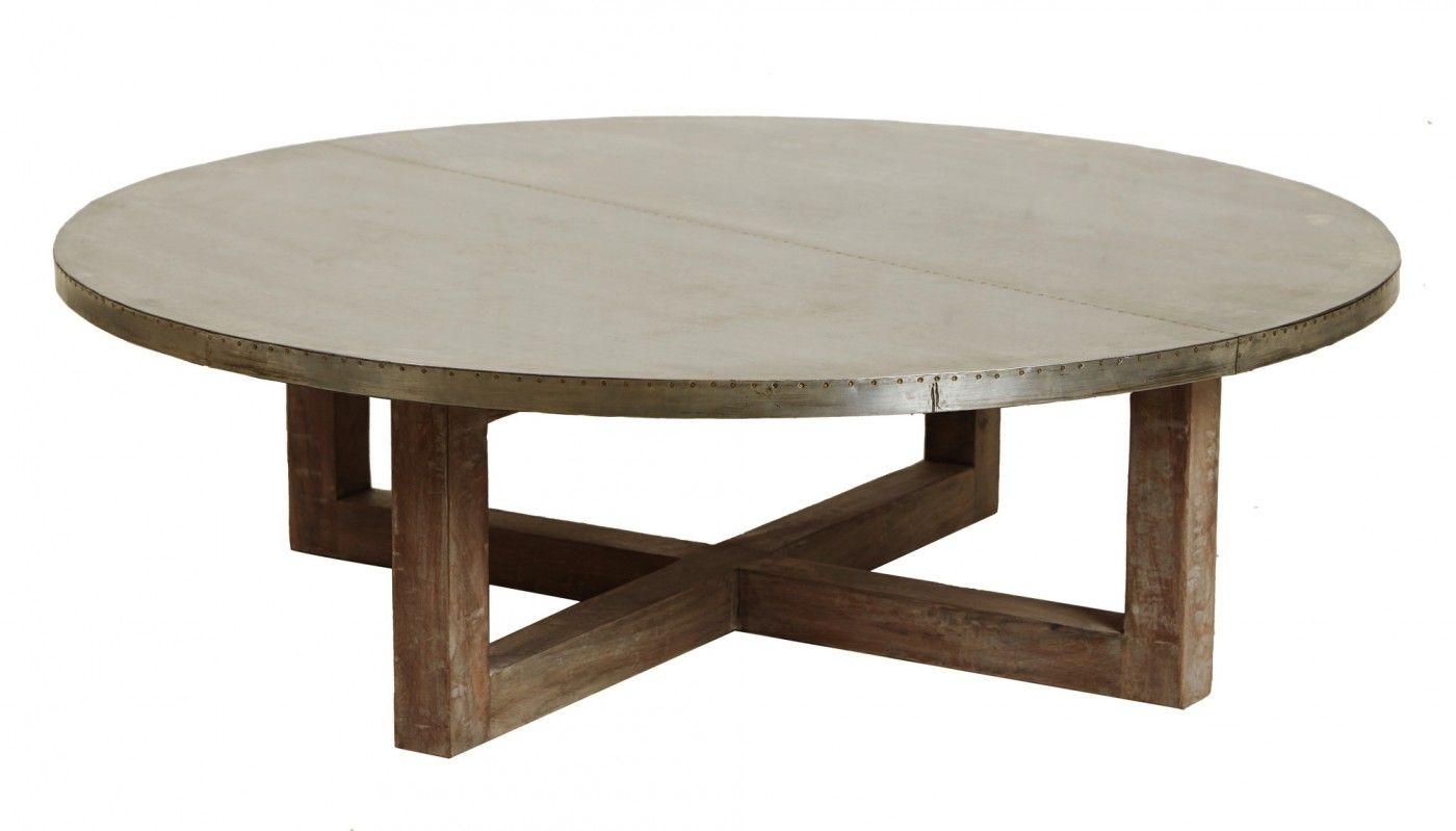 Argo Zinc Top Round Coffee Table